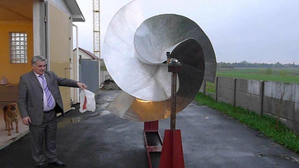 Ротор Онипко. Высокоэффективный ветроротор производит электроэнергию даже при слабо ветре. 2