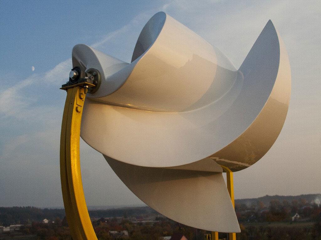 Ротор Онипко. Высокоэффективный ветроротор производит электроэнергию даже при слабо ветре. 5